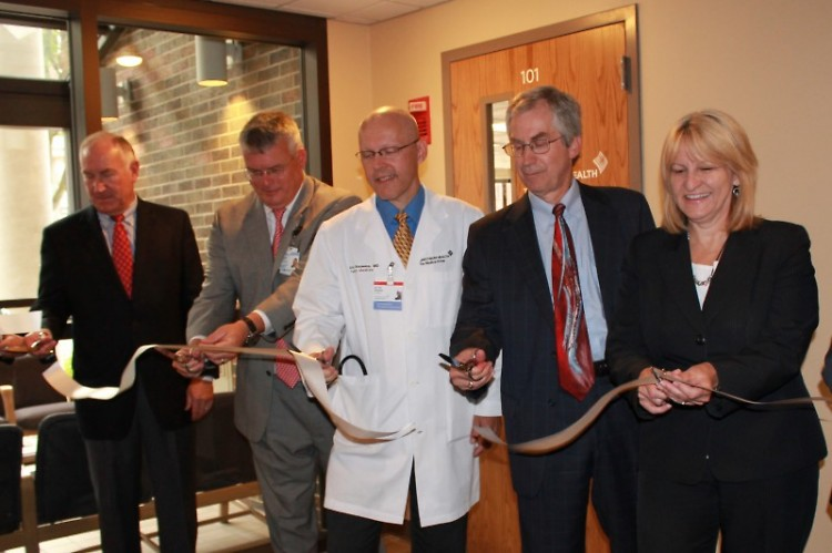 Ribbon-cutting ceremony at the Community Medicine Clinic open house