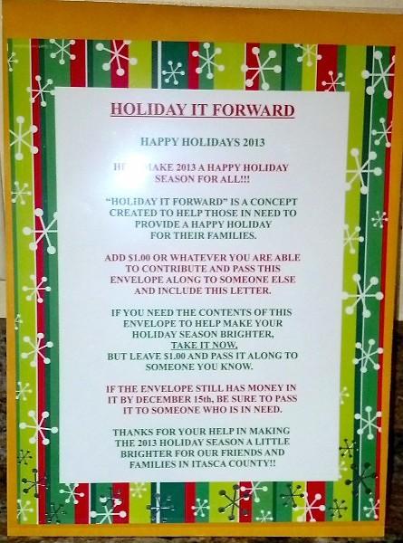 Holiday It Forward envelope