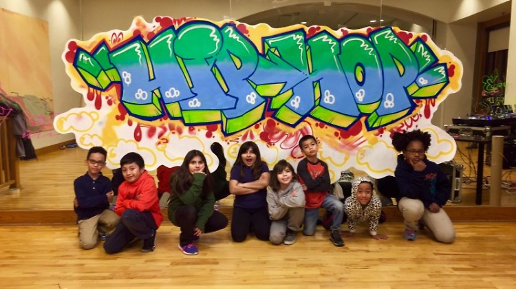 Cook Arts Center students at Hip-hop Camp