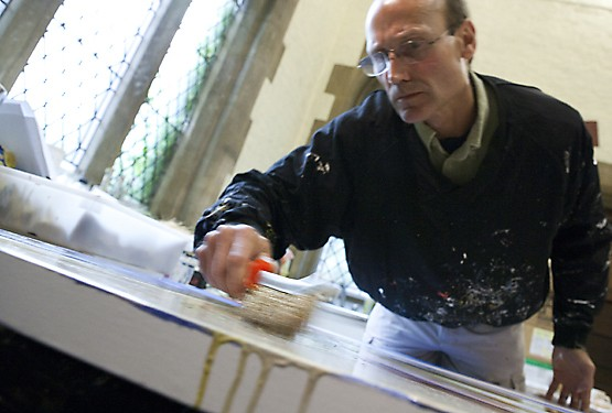 Jamie Treadwell in his studio