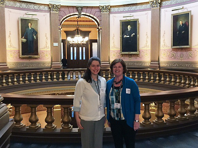 Jennifer and Pat at Homelessness Advocacy Day in Lansing