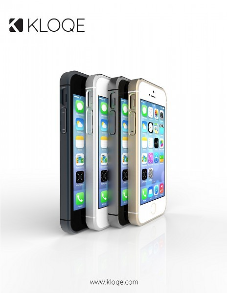The Kloqe fits the iPhone 5 and 5s, and comes in white, black, grey, and champagne.