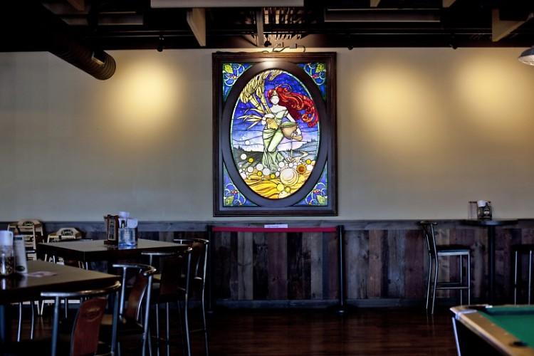 """""""Ninkasi"""" adorns Founders taproom"""