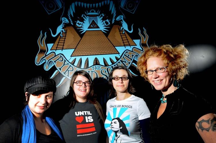 LadyFestGR planners (l to r) Dani Vilella, Jes Kramer, Sarah Scott and Tami VandenBerg