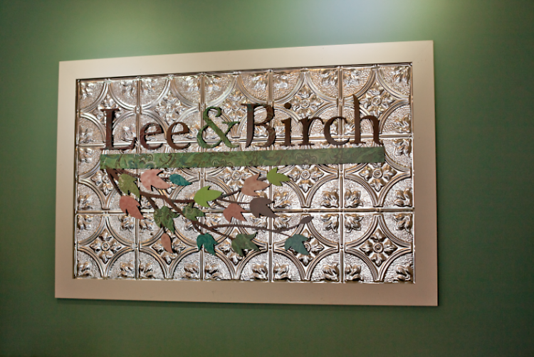 Lee & Birch signage in current downtown store