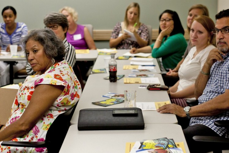 Area literacy provider representatives at a literacy forum in Grand Rapids hosted by CLI