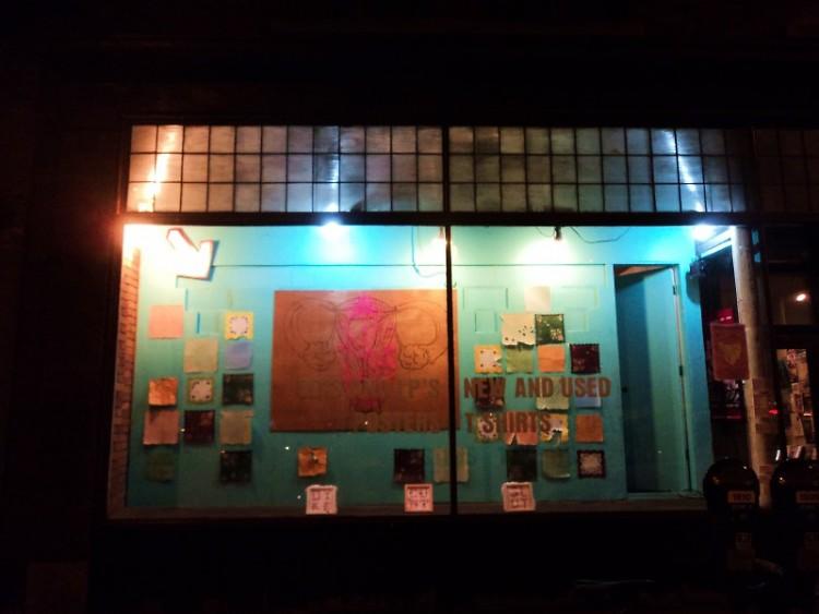 One of the two window displays at Vertigo