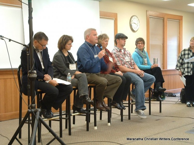Panel of editors and publisher at the Maranatha Christian Writers Conference
