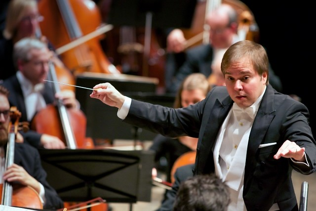 Music Director Marcelo Lehninger leads the Grand Rapids Symphony in the final concerts of the 2017-18 season