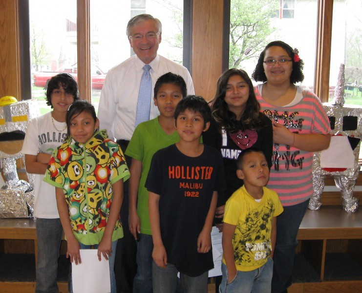 The GAAH Press Club and Mayor Heartwell at The Cook Arts Center.
