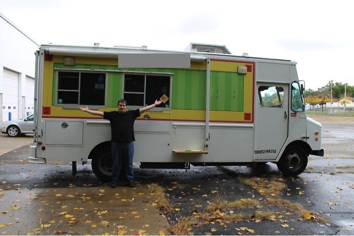 Brennan Summers with A Moveable Feast truck