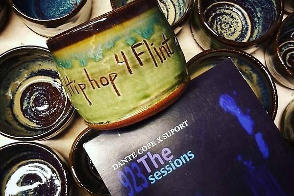 Hip Hop 4 Flint mugs by Kate Lewis