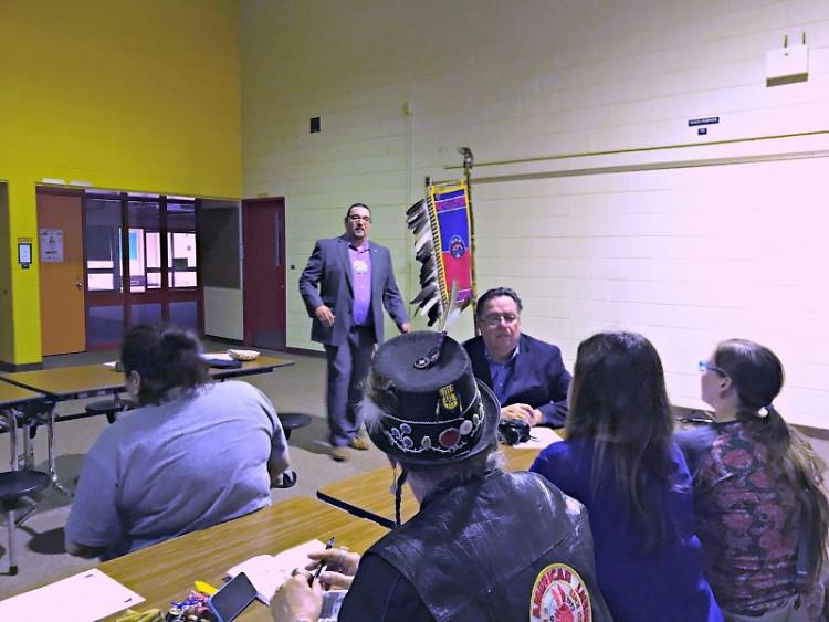 Jonathan Rinehart, local Native leader, speaking at NAEP meeting.