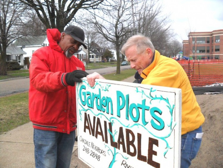 Oakdale Community Garden plots are available.