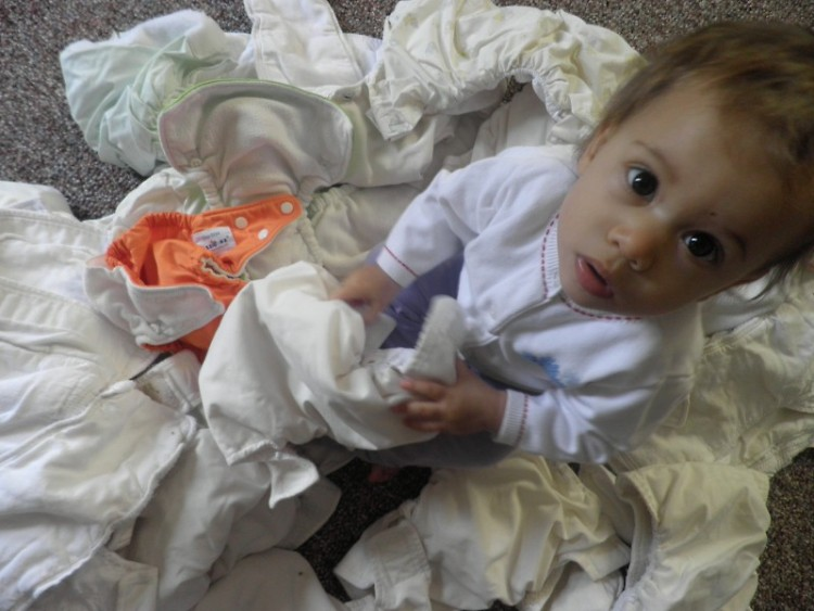 Cloth diapers are less toxic for babies and better for the environment.