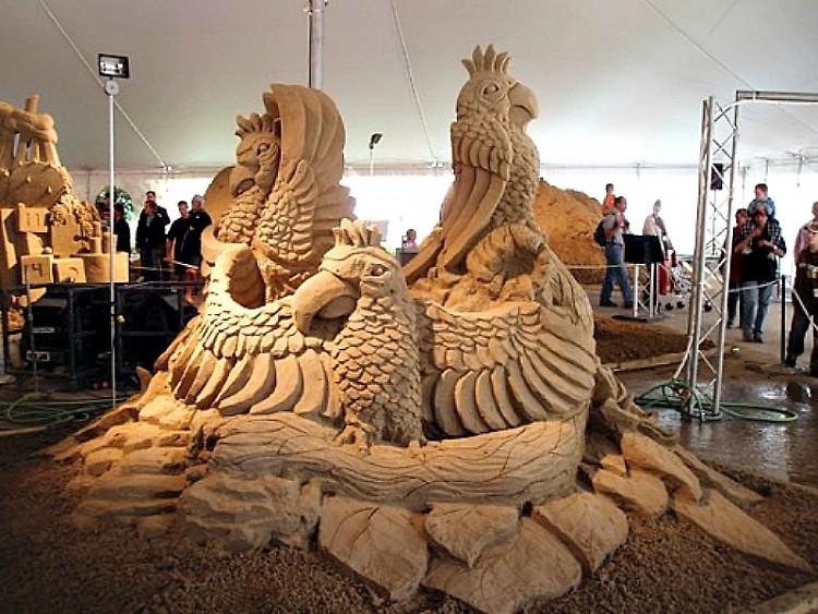 Sand carving from Greg Butauski