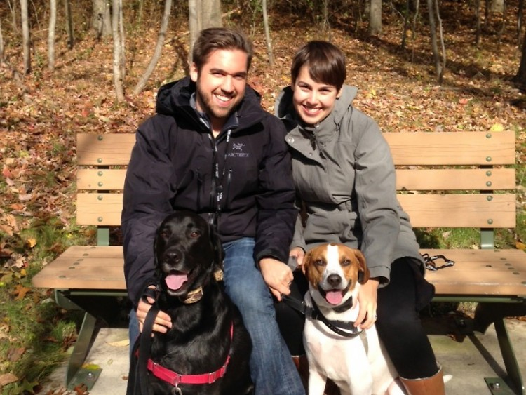 Kevin and I with our two dogs.