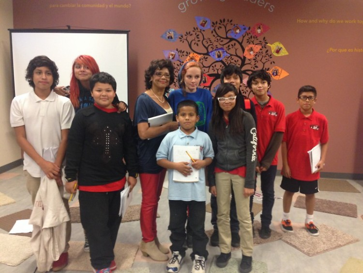 Sonia Manzano meets the Press Club students.