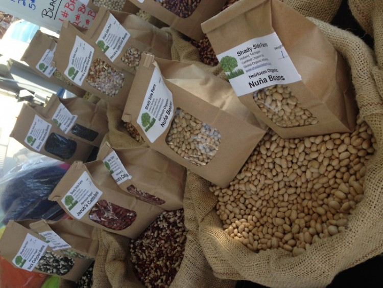 Dried Beans at the Farmers Market