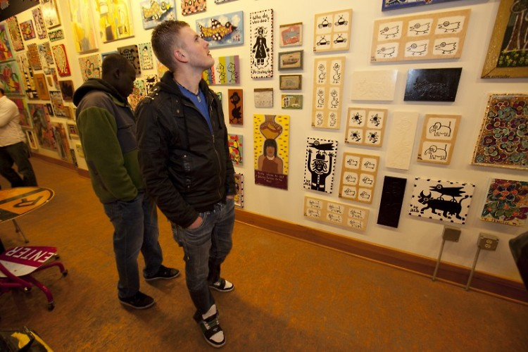 Visitors to Art. Downtown. last year browsing a selection of work on show.