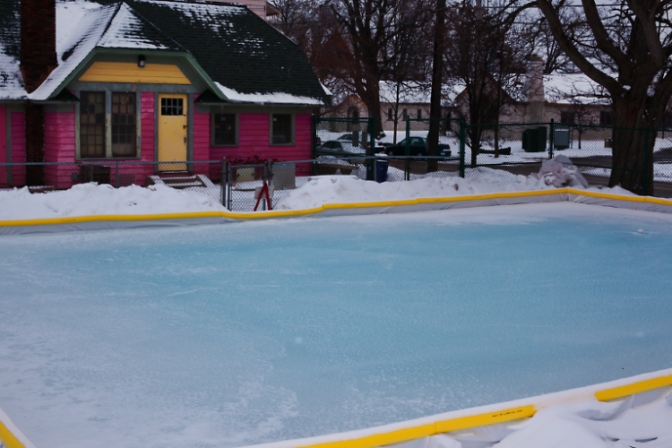 Cherry Park ice rink with EHCN office