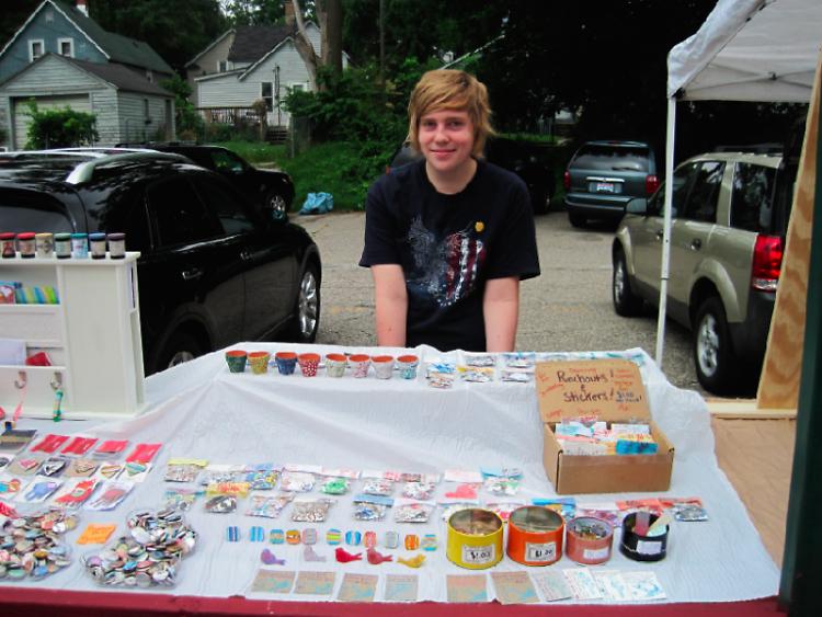Ryan Wyrick at the Fulton Street Artisans Market