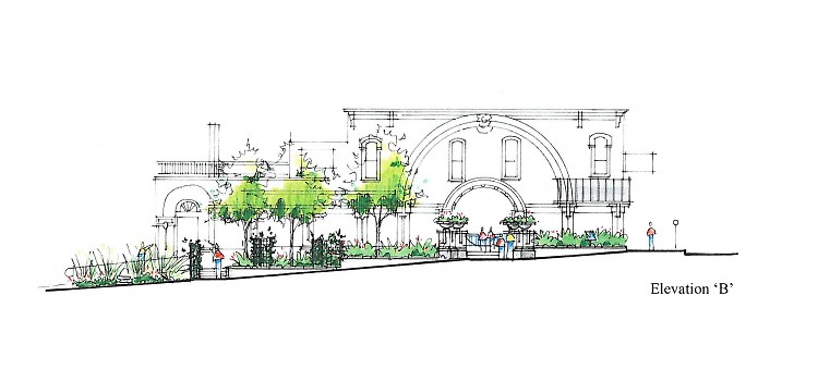 Planning schematic of Rev. Barb Pekich Park