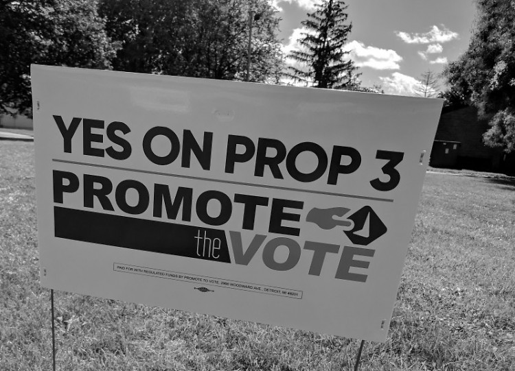 Prop 3 campaign sign