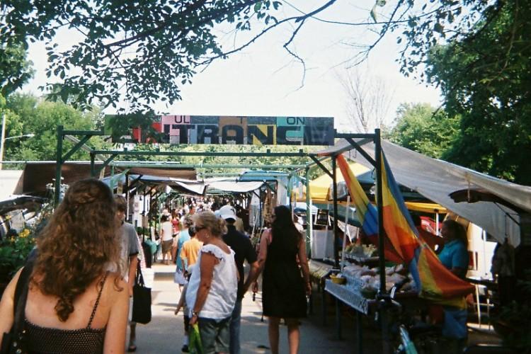 Entrance to Fulton Street Farmers Market