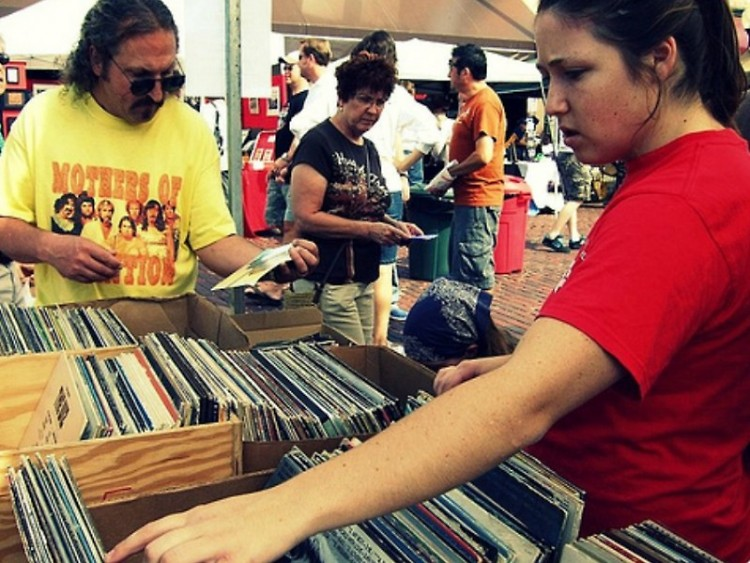 Music lovers at the WYCE Record and CD sale
