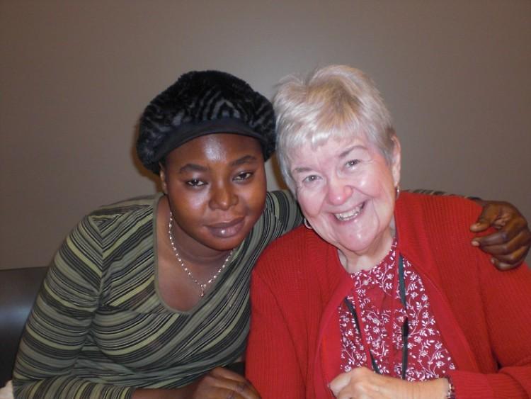 Rose with her tutor, Barbara.