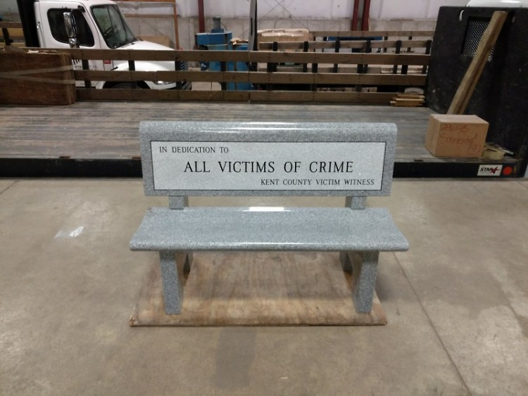 Bench donated in honor of all victims of crime