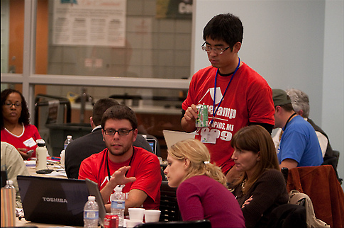 A scene from the 2009 GiveCamp