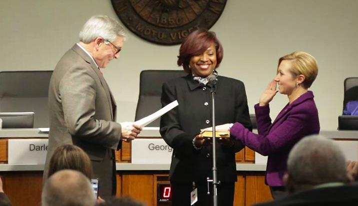 Mayor Rosalynn Bliss was sworn in as the new mayor of Grand Rapids at the end of lsat year.