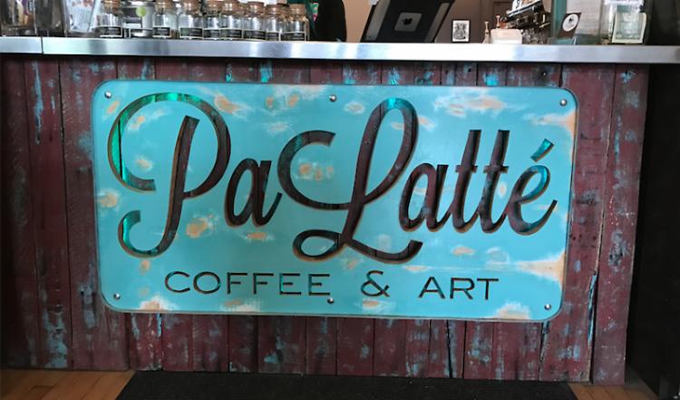 PaLatte Coffee & Art, located on 150 Fulton St. E, Grand Rapids, MI 49503