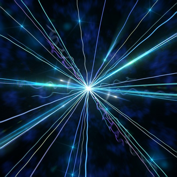 Subatomic particle explosion
