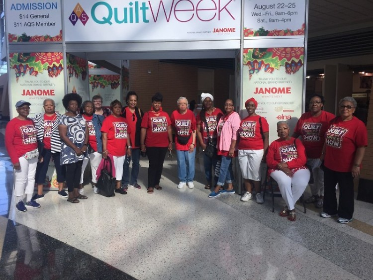 These Threads Class ladies visit QuiltWeek and will feature their own quilts at a Quilt Show at Baxter Community Center Sept 14