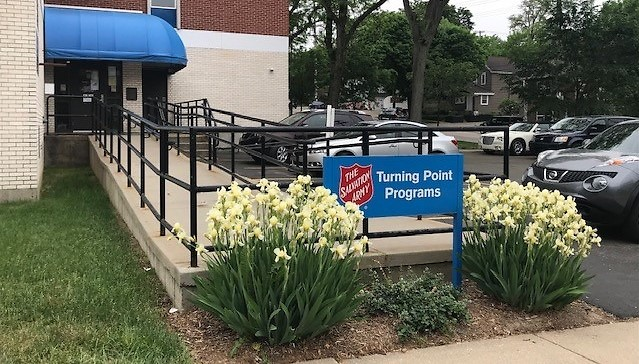 Entrance to The Salvation Army Turning Point Program