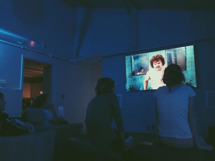 """Children watching """"Nacho Libre"""""""