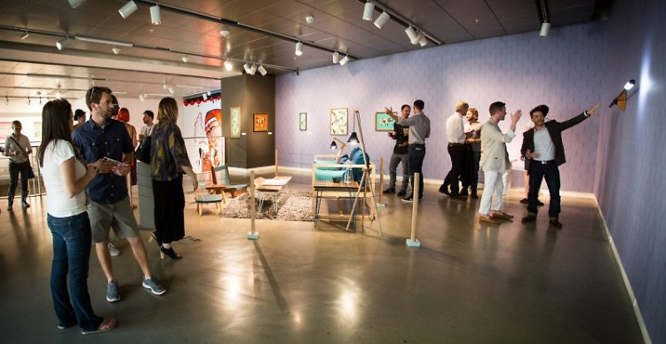 The Urban Institute for Contemporary Arts' exhibition highlights the influence of midcentury modernism on contemporary art.