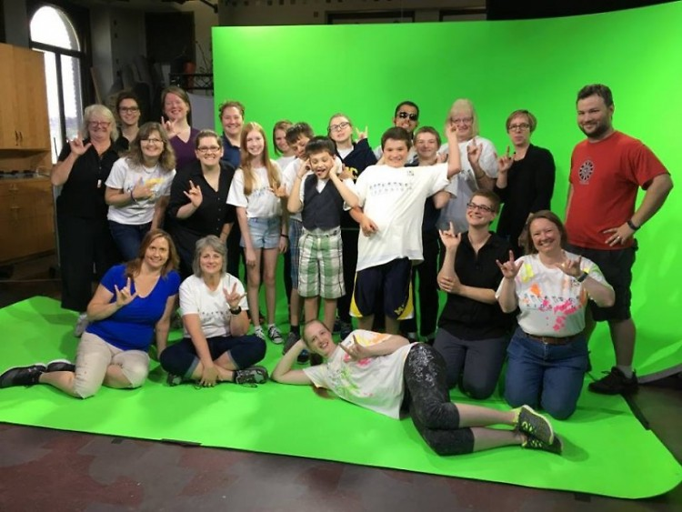 Deaf and the Hard of Hearing School working with GRTV and the Education Department at the GRCMC