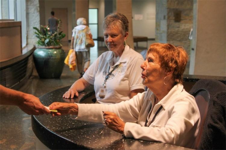 Volunteers Clarice Newhof and Judy Lukas