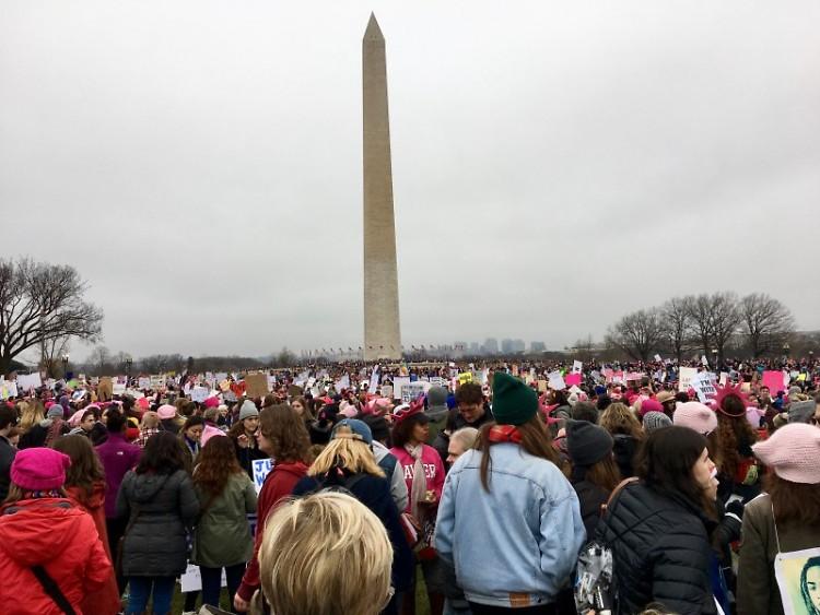 Gathering at the Washington Monument