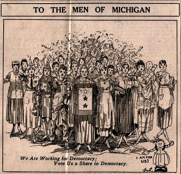 A suffrage cartoon by Gert Van Houten