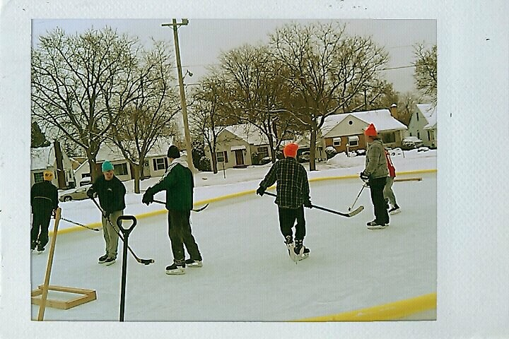 old school WinterWest pond hockey on the main rink