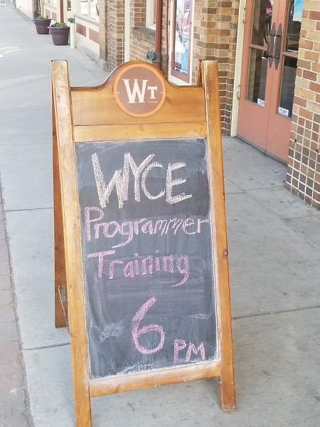 Programmer training at WYCE 88.1 fm