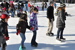 Ice Skating on Rosa Parks Circle.