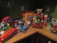 The food I bought for the next ten days: right around $60.00