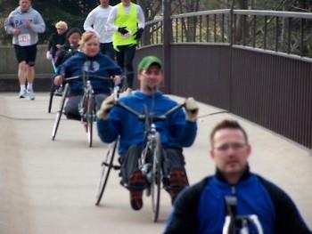 Wheelchair Athletes 2010 Wheel Run Together