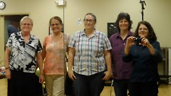 Leaders of the project from left to right are: Deanna Morse, Maggie Annerino, Lynn McKeown, Suzanne Zack and Gretchen Vinnedge.